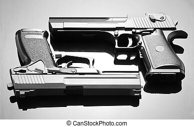 Two handguns. Desert Eagle and M23 Double Eagle
