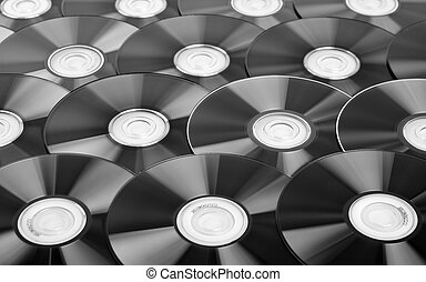 CDs background - Close-up of CDs. Use for background or...