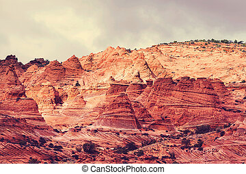 Coyote Buttes of the Vermillion Cliffs Wilderness Area, Utah...