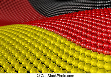 Wave of spheres in the colors of Germany - Wave of hundreds...