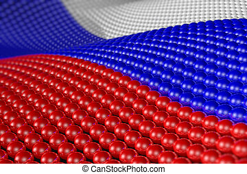 Wave of spheres in the colors of Russia