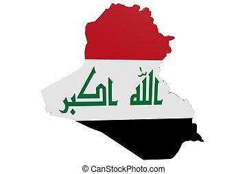 Iraqi Flag Map
