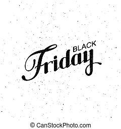 Black Friday Sale label Vector vintage illustration...
