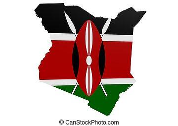 Kenyan Flag Map