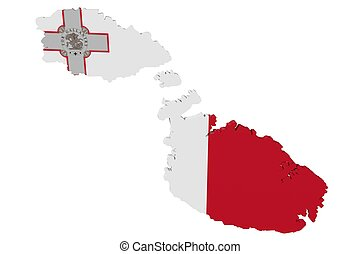 Maltese Flag Map