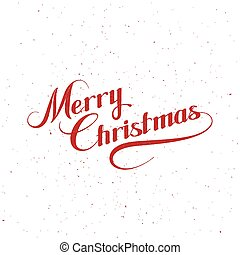 Merry Christmas. Holiday Vector Illustration With Lettering...