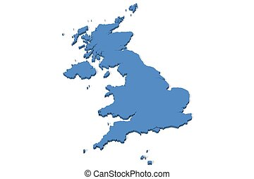 United Kingdom Map - 3D map of the United Kingdom