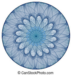 Fractal background lines - Fractal background blue circles...
