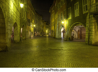Old Street in Annecy, France