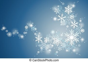 Winter snowflake swirl - Winter holiday background with...