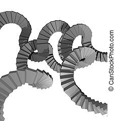 Imaginative stairs render - Creative design of Imaginative...