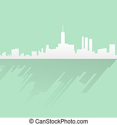nice silhouette city - Creative design of nice silhouette...