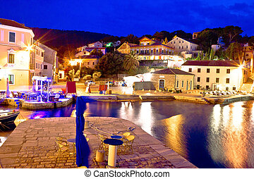 Veli Losinj bay evening view, island of Losinj, Croatia