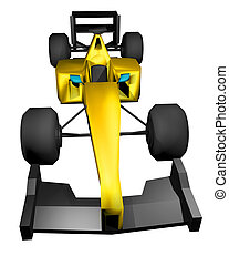 render formula car - Creative design of render formula car