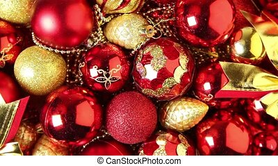 Christmas tree decorations - Full frame video shot of...