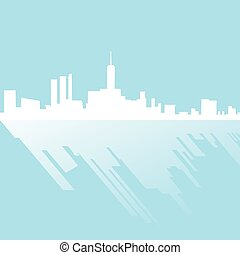 elegant city silhouette - Creative design of elegant city...