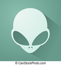 imaginative alien head - Creative design of imaginative...