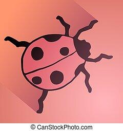 imaginative ladybug - Creative design of imaginative ladybug