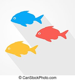 nice color fishes - Creative design of nice color fishes