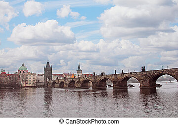 Charles Bridge in Prague - Charles Bridge Karluv Most over...