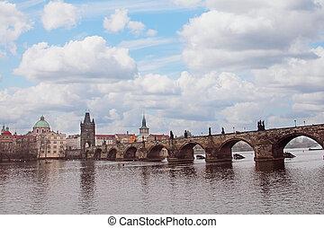 Charles Bridge in Prague - Charles Bridge (Karluv Most) over...