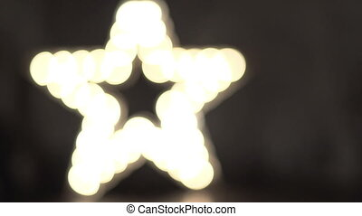 Star decoration with lamps wall