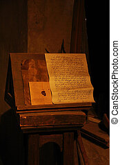 Old letter in Torture museum of Prague