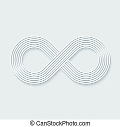 Infinity symbol.