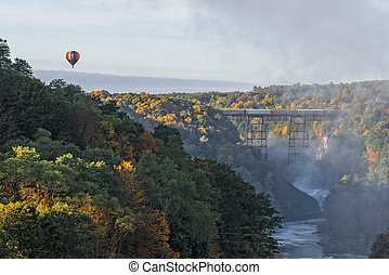 Sunrise From Inspiration Point At Letchworth State Park In...