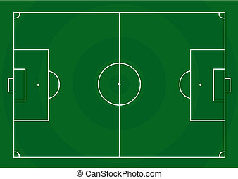 Football pitch - Vector illustration of a football pitch...