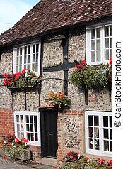 Quaint Old British Pub in Summer. - Old British Pub...