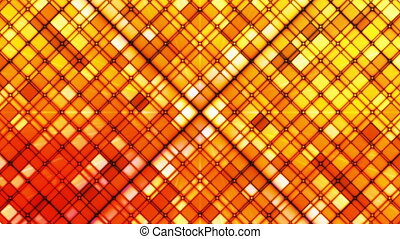 Broadcast Twinkling Cubic Diamonds, Orange, Abstract, Loopable, HD