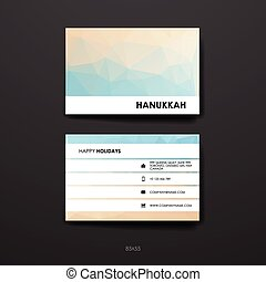 Set of modern design banner template in Hanukkah style....