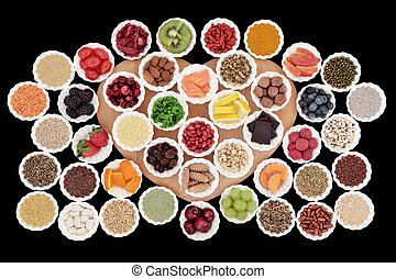 Health Food - Health and diet superfood food selection in...