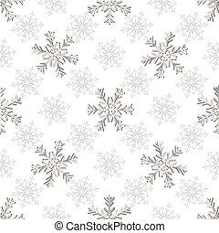 Seamless silvery christmas pattern