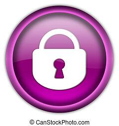 Closed lock button