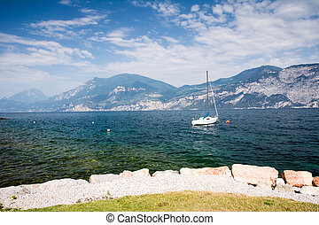Lake Garda - Water front of Lake Garda (Italy)