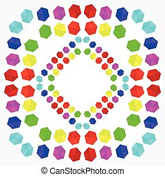 Colorful geometric pattern in rainbow colors - Colorful...