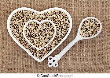 Tricolour Quinoa - Tricolour quinoa grain super food in...