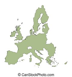 green map of European Union