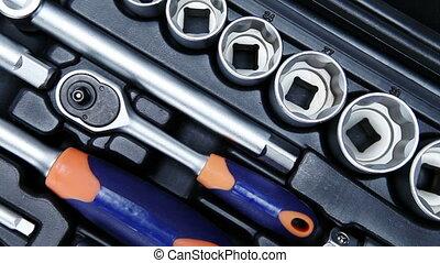 set of the metalwork tool for repair work