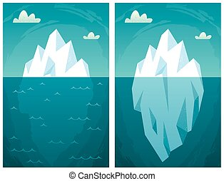 Iceberg - Cartoon iceberg in 2 versions