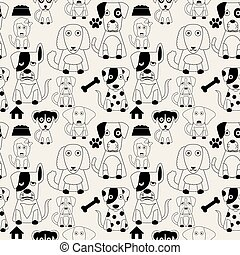 Dog pattern seamless