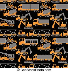 heavy transportation and construction vehicle - two tone...