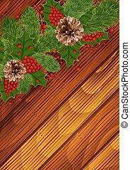 Christmas background - Illustration of Christmas decoration...