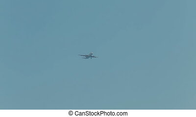 Aircraft flying in the sky over Nice - Aircraft flying in...