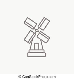 Windmill line icon. - Windmill line icon for web, mobile and...