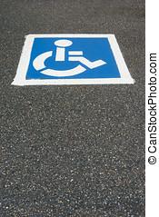 無能力,  pai, 停車處, 障礙, 簽署