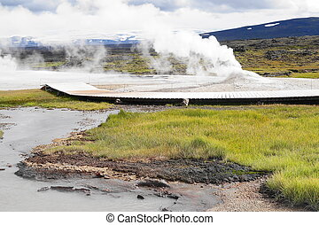 Geothermal activity, Iceland