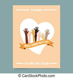 World human rights day template - Vector illustration and...